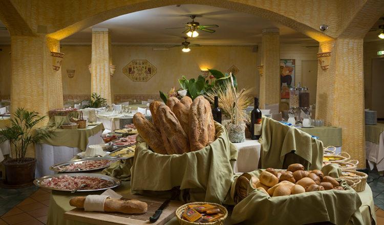 Pane fragrante per la colazione all'Hotel Rocce Sarde